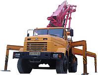 Автобетононасос 37м в аренду 90-180 м3/год, длина автострелы - 37м. Последующий час - 850 грн.