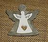 Подвеска-ангел из дерева двойной