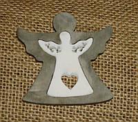 Подвеска-ангел из дерева двойной, фото 1
