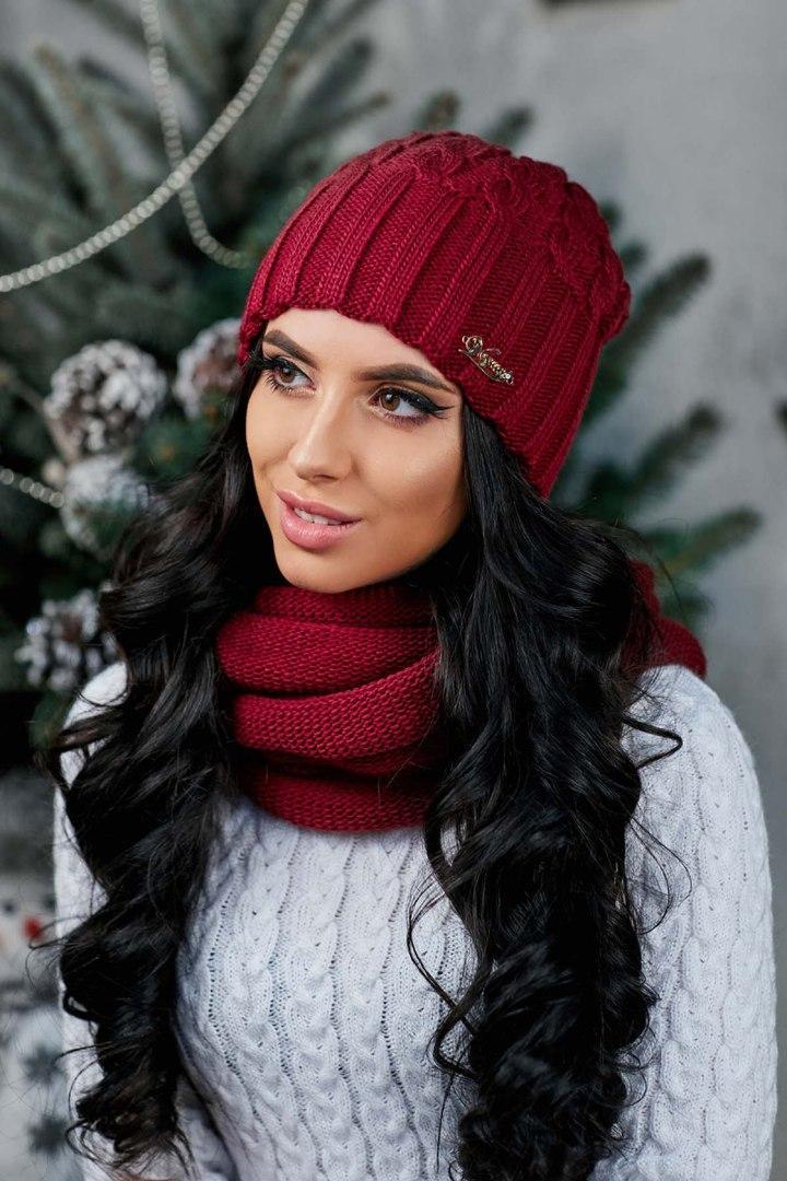 """Красивая женская шапка """"Лидия"""""""