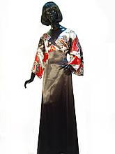 Платье с атласной чёрной юбкой Арт.1000 р.40,42,46,48