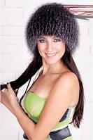 Женская меховая шапка из блюфроста