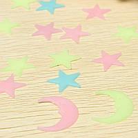 Детские наклейки стикеры Звезды и Луна