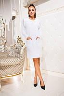 Платье  (42-44,46-48,50-52,54-56) — пушистая ангора купить оптом и в розницу в одессе  7км