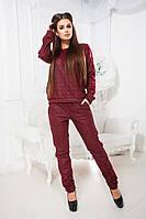 Женский спортивный костюм (44,46,48) — кожа на меху купить оптом и в Розницу в одессе 7км