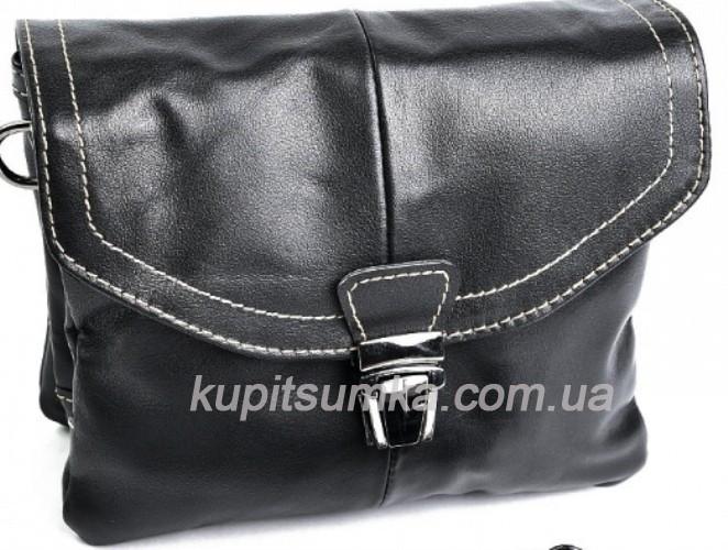 8a5316470d27 Сумочка - кроссбоди из натуральной кожи чёрного цвета - Интернет-магазин  стильных сумок