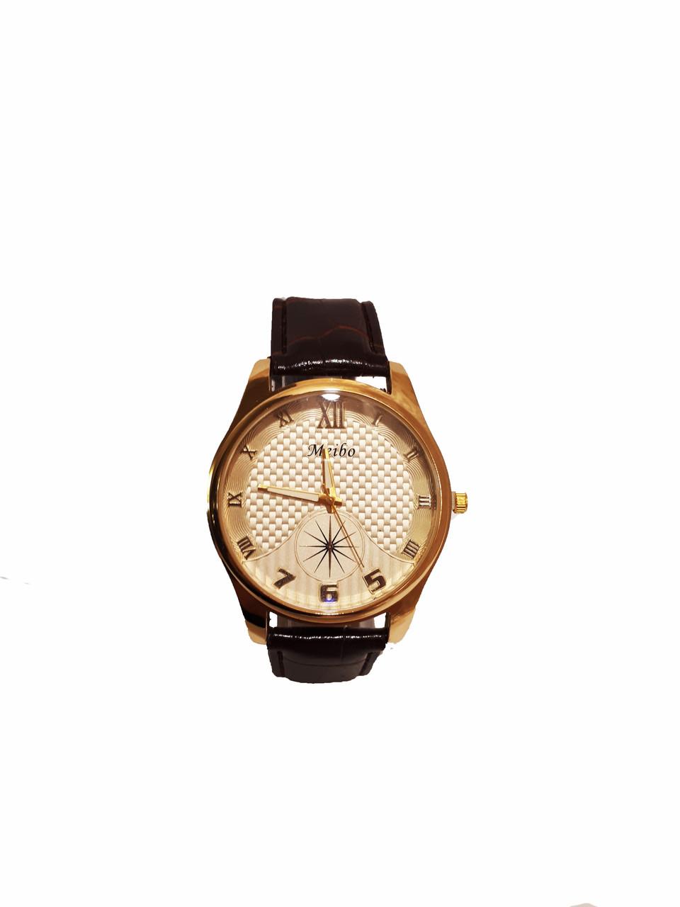 Часы кварцевые мужские Meibo Gold 46-04 коричневый