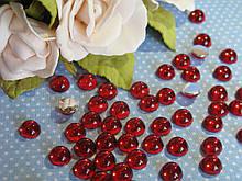 """""""Крапелька роси"""" клейовий декор, 8 мм, колір червоний, ціна 12 грн - 50 шт"""