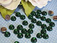 """""""Капелька росы"""" клеевой декор, 8 мм, цвет зеленый, цена 6 грн - 24-25 шт, фото 1"""