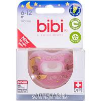 Пустышка силиконовая BIBI (Биби) Sweet Dreams pink ночная артикул 110147 от 6 до 12 месяцев