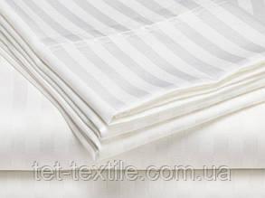 Постельное белье ТЕТ Страйп сатин белое (двуспальное), фото 2