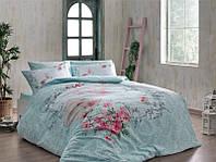TAC Евро постельное бельё  Lilyana blue