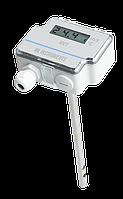 Канальный датчик скорости и температуры воздуха AVT-D-R с дисплеем и релейным выходом