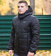Зимняя куртка Nike / Найк / с капюшоном / парка / черная / мужская