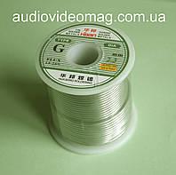 Припой 60/40 с флюсом (Китай) на катушке, чистый вес 850 грамм, сечение 2.3 мм