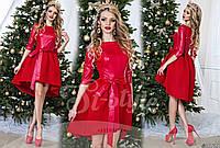 Платье (42, 44, 46) —верх - экокожа, низ неопрен купить оптом и в розницу в одессе  7км