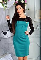 Платье (42, 44, 46) — французский трикотаж и гипюр купить оптом и в розницу в одессе  7км
