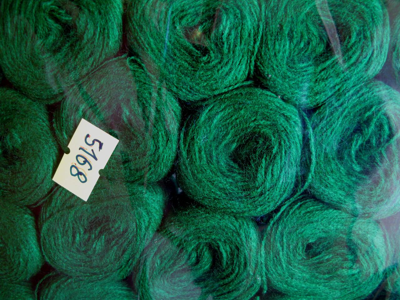 Нитки акриловые цвет насыщенно зеленый 5168