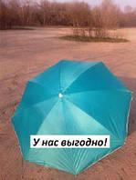 Пляжный зонт с наклоном 1,8 м с серебром бирюза