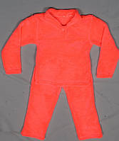 Детская пижама домашний комплект для девочки махровая зимняя теплая велсофт мягкая