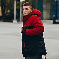 Зимняя парка Nike / Найк / с капюшоном / куртка / красная / мужская / черная