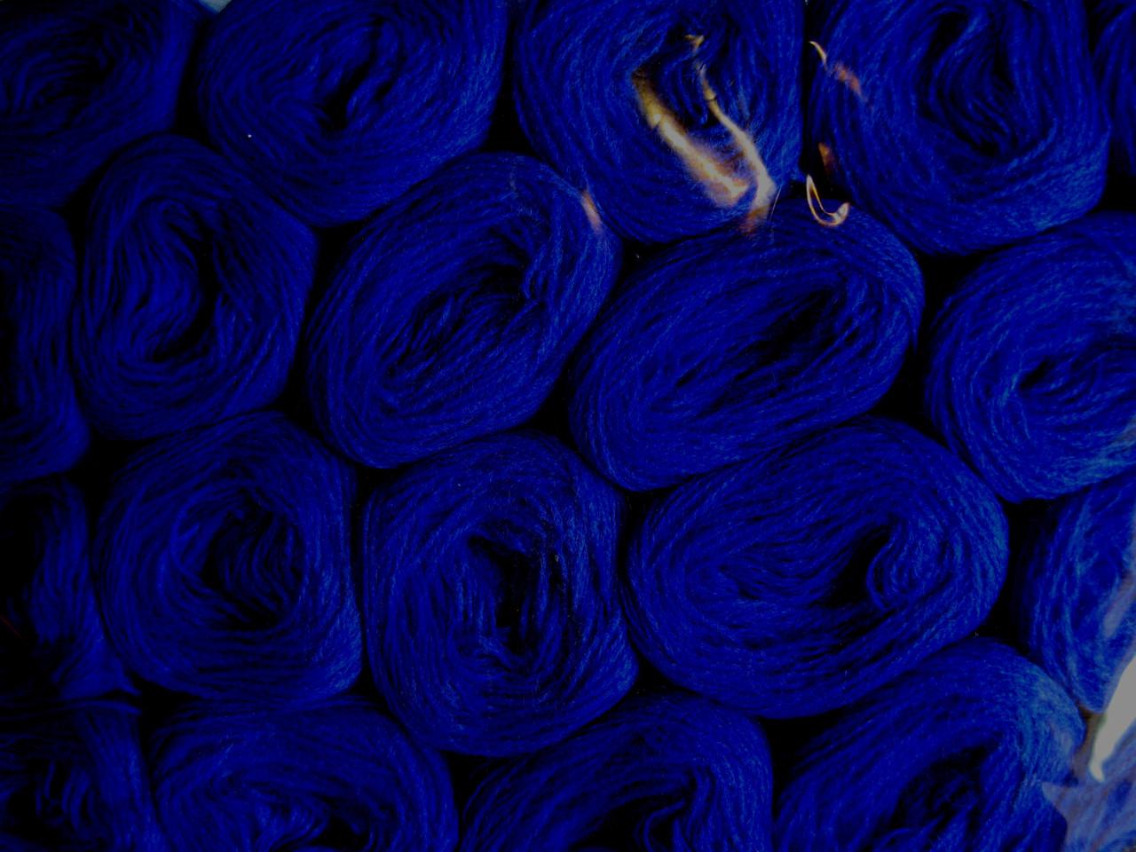 Нитки акриловые цвет темно темно синий