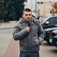 Зимняя куртка / с капюшоном / парка/ мужская / серая