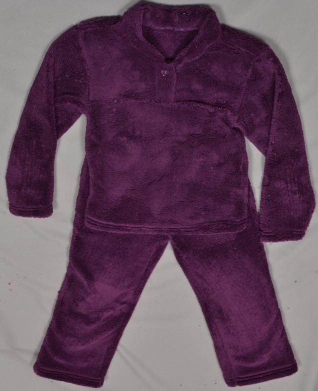 Детская пижама домашний комплект для девочек и мальчиков махровая зимняя теплая велсофт мягкая