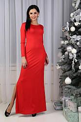 Длинное платье(в пол) с косой змейкой по всей длине,черное и красное.