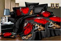 """Набор полуторного постельного белья """"Gold"""" - Красные розы"""