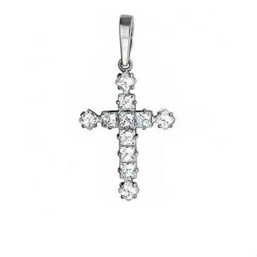 Серебряные крестики с камнями