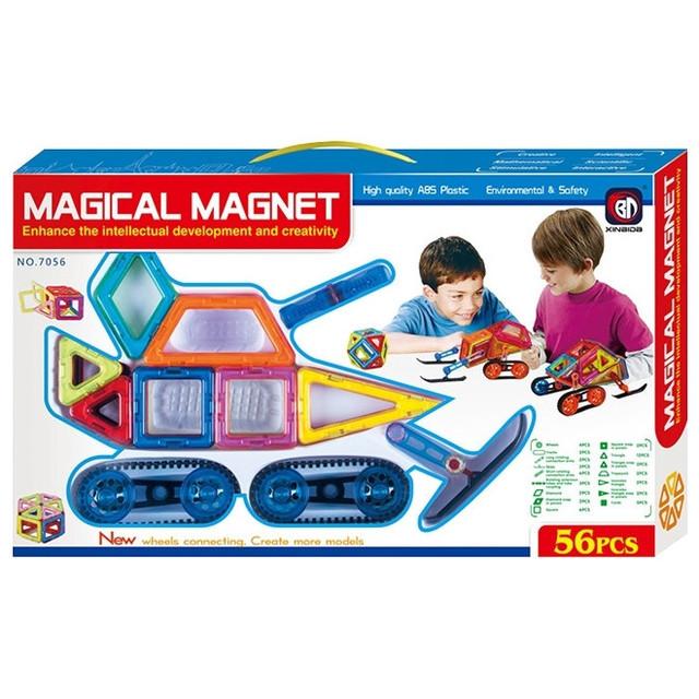 Конструктор магнитный, инерционный. Детский игровой набор 7056