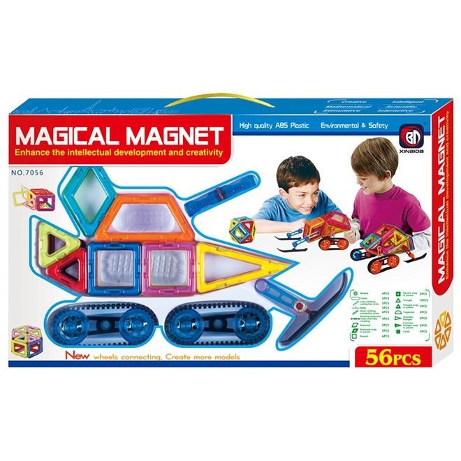Магнитный конструктор Снегокаты Magical Magnet 56 деталей