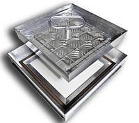 Люк-невидимка под плитку 300х300, скрытый люк, алюминиевый, ревизионный, технологический, под заполнение