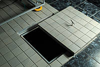 Люк-невидимка под плитку 600х600, скрытый люк, алюминиевый, ревизионный, технологический, под заполнение