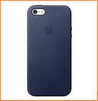 Чехол накладка Apple Silicon Case на IPhone 5/5s/SE Dark Blue