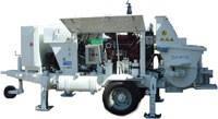 Аренда бетононасоса с производственной мощностью 60-90 м3/час. Подача на высоту до 100 м.