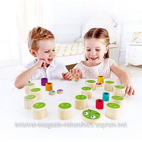 Деревянная игра Hape Caterpillar Memo, фото 2