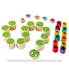 Деревянная игра Hape Caterpillar Memo, фото 3