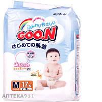 Подгузники для детей GOO.N (Гун) регулярные размер М средние унисекс от 6 до 11 кг стандарт 17шт