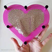 Гвозди Artpin Сердце металл цветные 13,5х14,5см, S