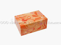 Упаковка для зефіру і еклерів - Помаранчеві сердечка - 180х120х80 мм