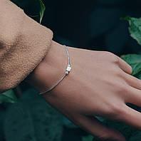 Один кубик - серебряный браслет 925 пробы