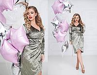 Платье (48,50,52,54) — мраморный велюр купить оптом и в розницу в одессе  7км