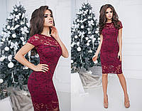 Платье (42,44,46) — гипюр+трикотаж купить оптом и в розницу в одессе  7км