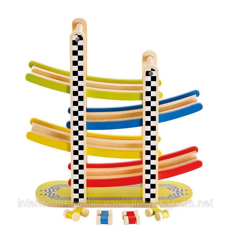 Деревянная игра Hape Switchback Racetrack