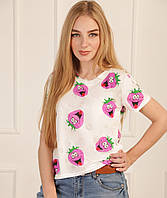 """Летняя женская футболка """"Crazy berry"""""""