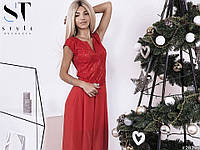Платье (42-44, 44-46, 46-48) — гипюр на стрейч-атласе шифон купить оптом и в розницу в одессе  7км