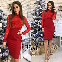 54826057d58 Женское платье с завышенной талией верх набивной гипюр с поясом в  расцветках АГ-1118.059
