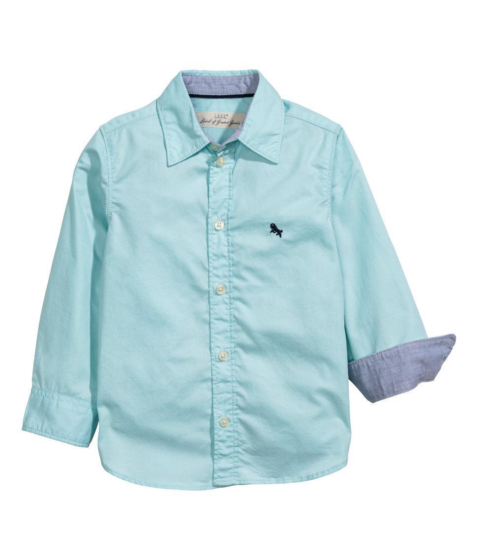 Детская рубашка с длинным рукавом Н&М для мальчика - Картерс-Опт в Белой Церкви